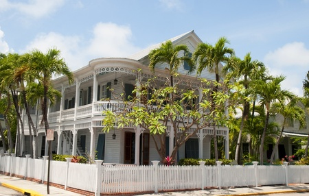 House in Key West in the Florida Keys in the State of Florida USA Banco de Imagens