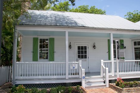 hemingway: Audubon House in Key West in the Florida Keys in the State of Florida USA