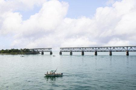 7 mile bridge  at Key West Florida USA