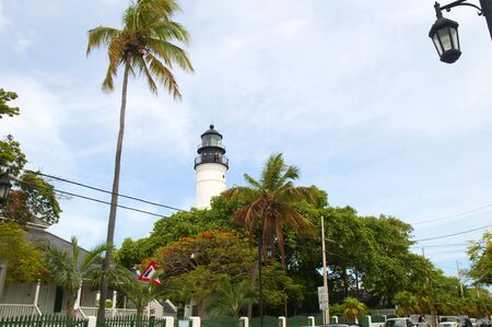 Lighthouse in Key West in the Florida Keys in the State of Florida USA