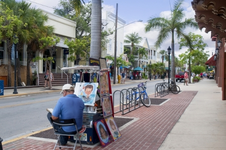 Key West in the Florida Keys in the State of Florida USA
