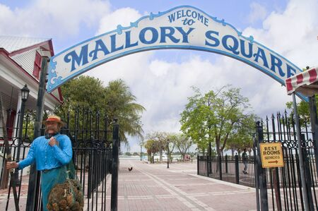 Mallory Square Entrance in Key West in the Florida Keys in the State of Florida USA Stock Photo - 14543588