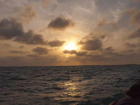 Sailing in sunset off Key West Florida USA photo