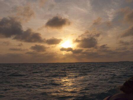 Sailing in sunset off Key West Florida USA photo