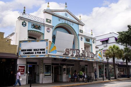 Old Cinema in Key West in the Florida Keys in the State of Florida USA Stock Photo - 14543581
