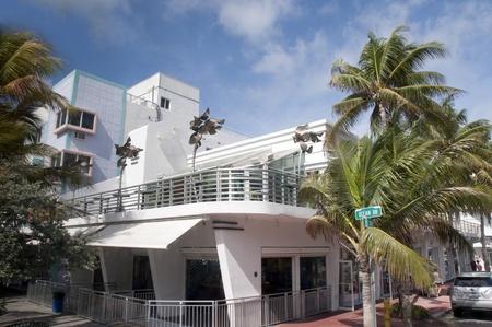 surf shop: Art Deco Hotel on South Beach Miami Florida USA