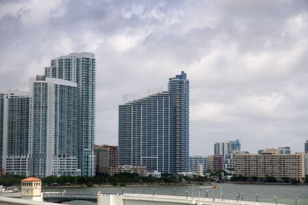 Cityscape of Miami Florida USA photo