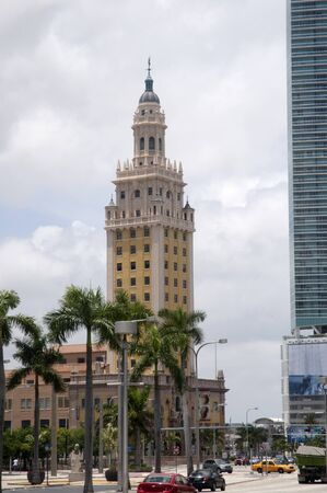 Seville Giralda  Tower Copy in Miami Florida USa photo