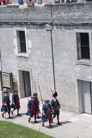 Soldiers at Castello San Marco in  St Augustine Florida USA