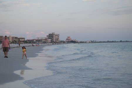 St Petes Beach in the Setting Sun in Florida USA