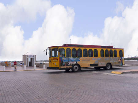 Town Trolley bus at St Petersburg Florida USA