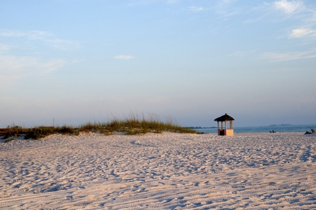 beach butterfly: St Petes Beach in the Setting Sun in Florida USA Stock Photo