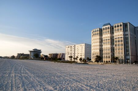petes: St Petes Beach in the Setting Sun in Florida USA Stock Photo