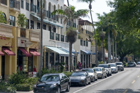 Main Street of Naples Florida USA