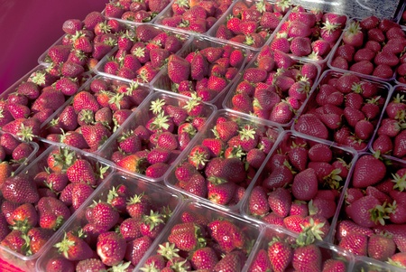 Strawberries on the market at Rethymno Crete Greece photo