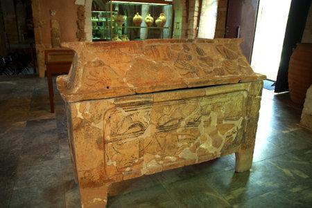 minoan: Minoan Terracotta burial urn at Chania Crete