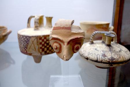 minoan: Ancient Minoan vases in Chania Crete Greece