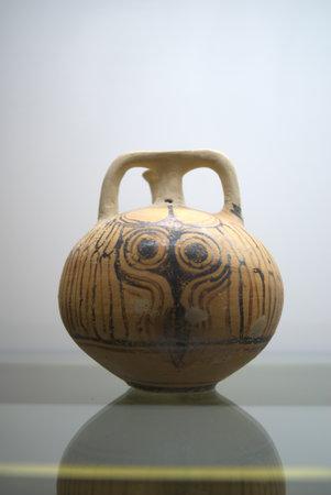 minoan: Ancient Minoan vase in Chania Crete Greece