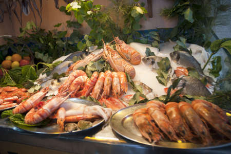 Seafood selection in Rethymno Crete Greece