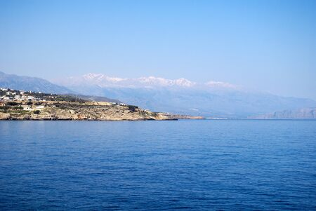 rethymno: The coastline of Crete near Rethymno