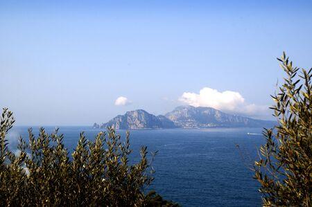The Isle of Capri from the Sorrento Peninsular Italy photo