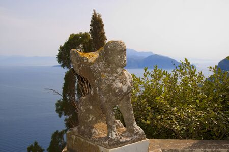 Statue of a Siren Half Woman Half Bird on the Island of Capri Italy photo