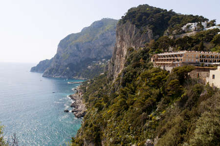 san michele: The isle of Capri in the Bay of Naples in Southern Italy