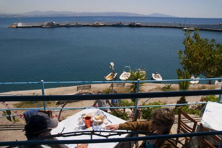 The Harbour at Agios Galini Crete Greece