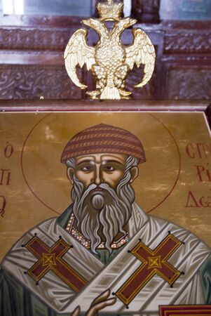 Icon at  Greek Orthodox Churchat Rethymno Crete Greece Stock Photo - 14543735