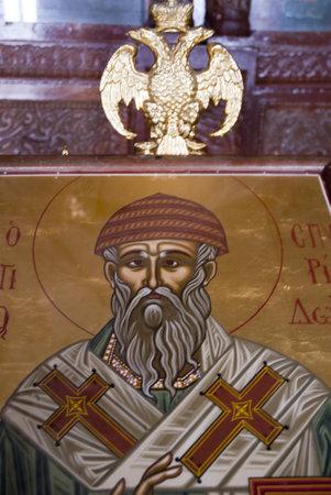 Icon at  Greek Orthodox Churchat Rethymno Crete Greece Stock Photo - 14543735
