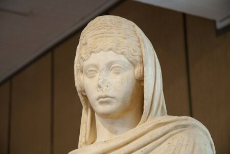 Marble Statue of Woman at Rethymno Crete Stock Photo - 11846780