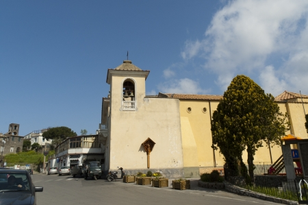 sant agata: Church at Termini near Sorrento Campania Italy Editorial