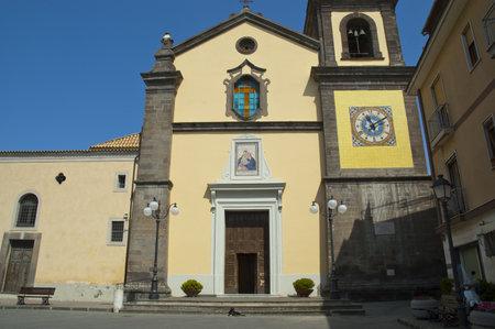 sant agata: Church at Sant Agata near Sorrento Campania Italy Editorial