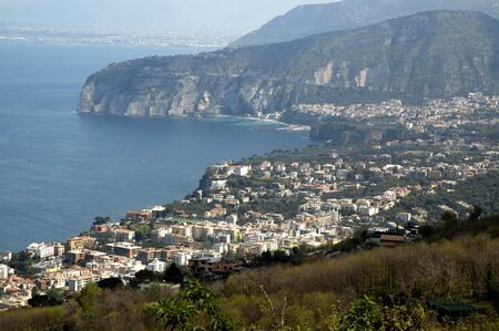 sant agata: View over Sorrento in Campania Italy