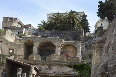 The Buried Roman City of Herculaneum near Naples in Southern Italy