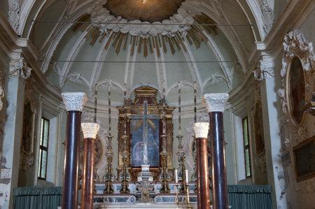 romanesque: Baroque interior of a Romanesque Church in Ravenna Italy