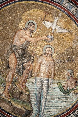 10th century mosaics in Romanesque Church in Ravenna Italy