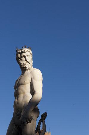 Neptune Fountain in Piazza della Signoria in Florence Tuscany Italy