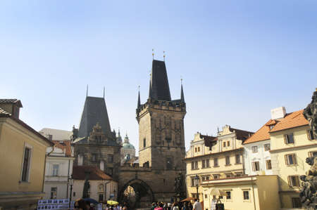 Charles Bridge over the River Vltava in Prague, Czech Republic Europe