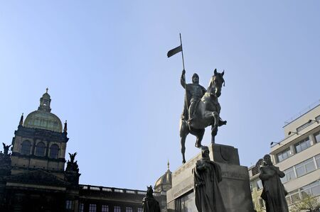 Wenceslas Statue in Wenceslas Square in Prague, Czech Republic Europe photo