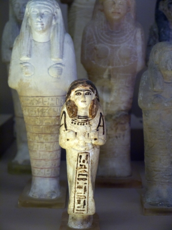 holies: Egyptian Statue and items