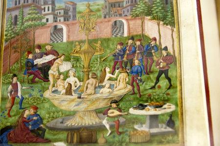 Beautiful Illuminated Manuscript Editorial