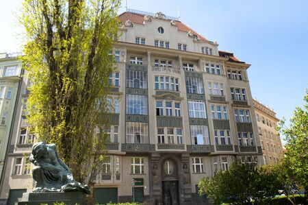 Decorated building in Prague, Czech Republic Europe