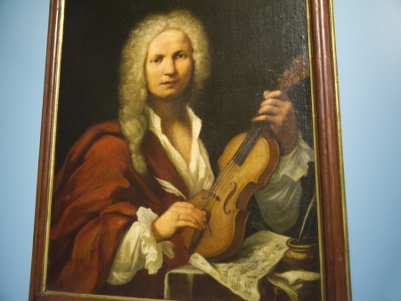 painting of Vivaldi in Bologna Italy