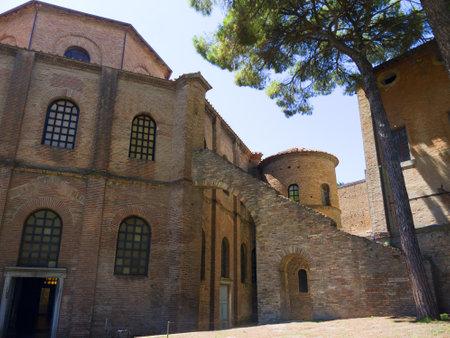 romanesque: Romanesque Church in Ravenna Italy Editorial