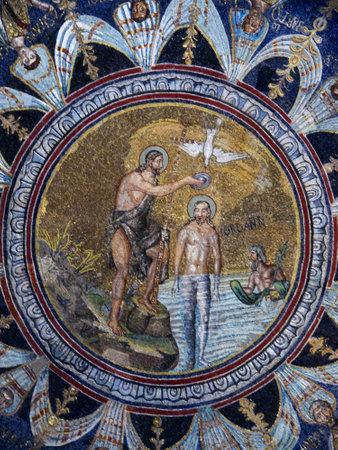 romanesque: world famous 10th century Mosaics in Ravenna Italy