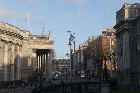 Busy Streets of Dublin City Ireland