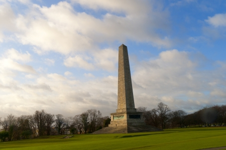 Monument to Arthur Wellesley The Duke of Wellington in Phoenix Park Dublin City Ireland