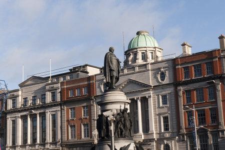 Statue of Daniel OConnell on OConnell Street Dublin City Ireland