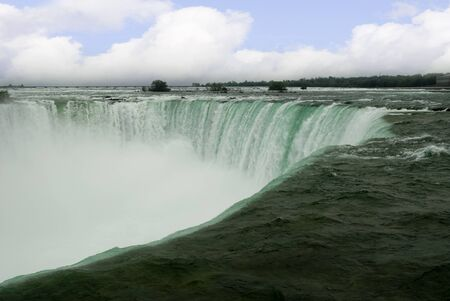 Top of Horseshoe Falls in Canada photo